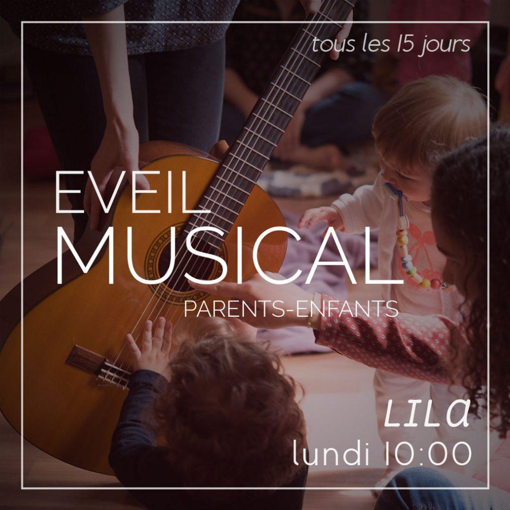Eveil Musical parents-enfants, les lundis de 10h à 11h avec lila